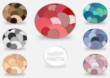 Paletas del maquillaje Foto de archivo