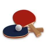 Paletas del ping-pong stock de ilustración