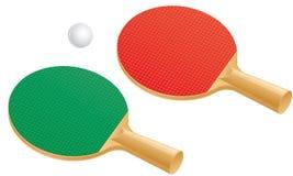 Paletas y bola del tenis de vector Fotografía de archivo