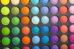 Palete del color del maquillaje Fotos de archivo