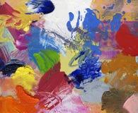 Paletmes en penseelkunstwerk vector illustratie