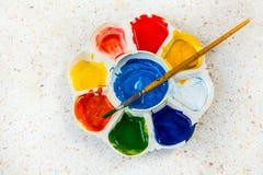 Palett av färger Arkivfoto