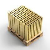 Palett av guldtackor Fotografering för Bildbyråer