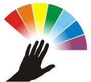 palett för färgillustration Royaltyfri Fotografi
