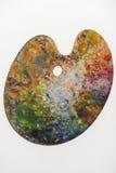 Palett för olje- målarfärger Fotografering för Bildbyråer