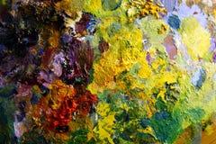 palett för oljemålarfärg Fotografering för Bildbyråer