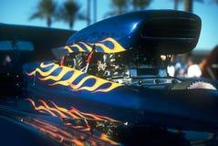Paletta fiammeggiata del cappuccio del Supercharger Immagini Stock Libere da Diritti