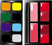 Palette. Set the palette for professional make-up Royalty Free Stock Photos