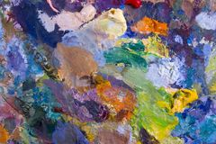 Palette. Artist's palette with multiple colors Royalty Free Stock Photography
