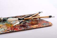 Palette And Brushes Royalty Free Stock Image