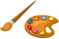 Free Palette And Paintbrush Stock Photography - 22658262