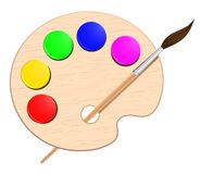 Palette. Artist - web design element stock illustration