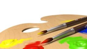 Palette avec des balais Image stock