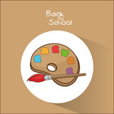 Palette and brush of back to school design Stock Photo