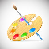 Palette and brush Royalty Free Stock Images