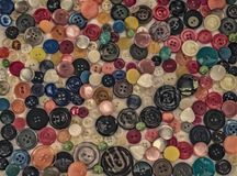 A palette of buttons. Many colored buttons look like a pattern, or as a palette of colors Royalty Free Stock Photo