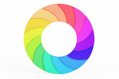 Palette Circle. Colored Business Logotype, 3D rendering Stock Photography