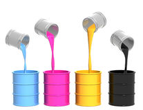 Palette CMYK Stock Image