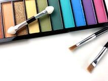 Palette colorée de fard à paupières photographie stock libre de droits