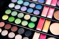 Palette colorée de professionnel de fard à paupières Photo stock