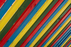 Palette color. Color palettes photographed at a fence Royalty Free Stock Photography