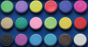Palette of colored inks Royalty Free Stock Image