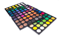 Palette of colorful eye shadow Royalty Free Stock Photos