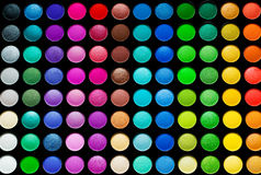 Palette of colorful eye shadows Stock Image