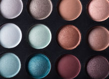 Palette of colorful eye shadows. Royalty Free Stock Image