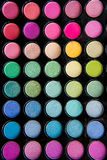 Palette of colorful eye shadows Royalty Free Stock Photos