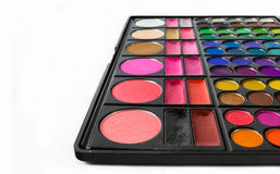 Palette of colorful eye shadows. Stock Photo