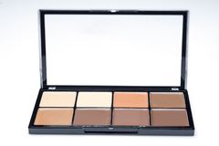 Palette of contour shades. Palette of eight different contour shades on a white background Royalty Free Stock Photos