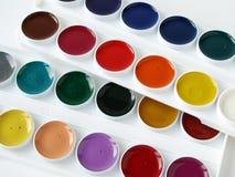 Palette d'aquarelle Photographie stock libre de droits
