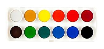 Palette d'aquarelle Photo stock