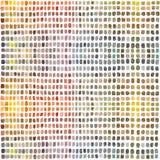 Palette d'aquarelle avec des rectangles colorés illustration stock