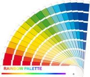 Palette d'arc-en-ciel Photographie stock libre de droits