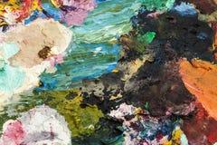 Palette d'artistes Images stock