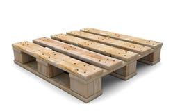 palette 3d en bois Images libres de droits
