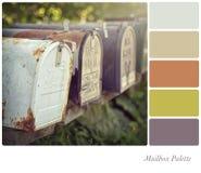 Palette de boîte aux lettres Image stock