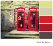 Palette de boîte de téléphone Photo stock