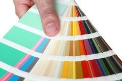Palette de couleur Photos stock