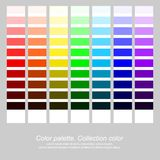Palette de couleur Couleur de collection Couleur d'arc-en-ciel Dirigez l'illustration, EPS10 Images libres de droits
