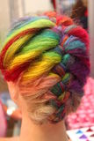 Palette de couleurs de cheveux - cheveux teints Photos stock