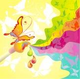 Palette de couleurs et de balai, illustration de vecteur Photos stock