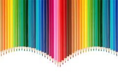 Palette de couleurs faite de crayons colorés photos stock