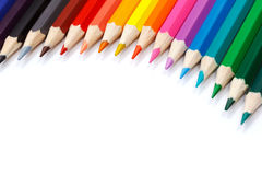 Palette de couleurs faite dans des crayons colorés Images stock