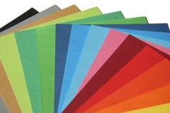 Palette de papier d'arc-en-ciel Photo libre de droits