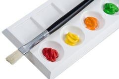 palette de peintre Images stock