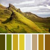 Palette de Quiraing Photo stock