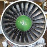 Palette della turbina del motore a propulsione di turbo per l'aereo, concetto degli aerei nell'industria di aviazione immagini stock libere da diritti